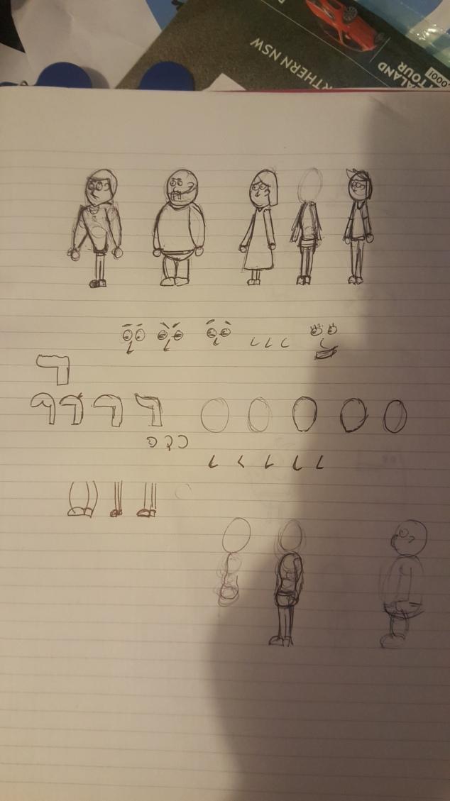 Markom3d 2D character designs